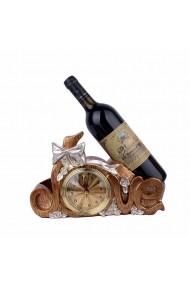 Decoratiune cu ceas si dublu suport de sticla LOVE