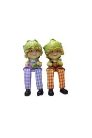 Set 2 figurine Funny Face 15 x 10 cm