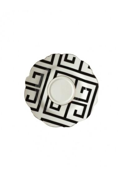 Set 6 cesti cu farfurioare Petit Brie Galben ceramica 210 ml