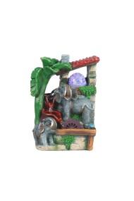 Fantana arteziana Elefanti feng shui 18 x 26 cm