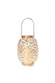 Felinar decorativ cu leduri auriu 27 cm