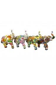 Set 4 elefanti colorati 10 cm