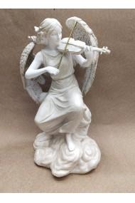 Decoratiune ingeras care canta la vioara 30 cm
