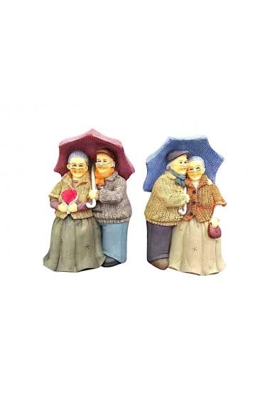 Decoratiune batranei sub umbrela 12 x 19 cm