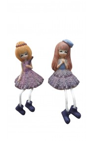 Set 2 figurine fetite Lilas 15 x 10 cm