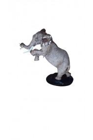 Statueta Elefant cu trompa in sus Feng Shui 17 x 18 cm