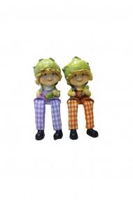 Set 2 figurine Funny Face Pumpkin 15 x 10 cm