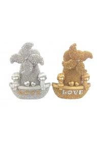 Decoratiune pentru copii auriu sau argintiu Love 16 x 20 cm