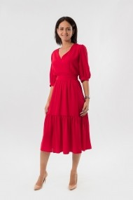 Rochie de zi EMA T Concept From 5 to 9 Rosu Cherry