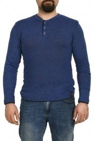 Bluza din tricot cu nasturi albastru