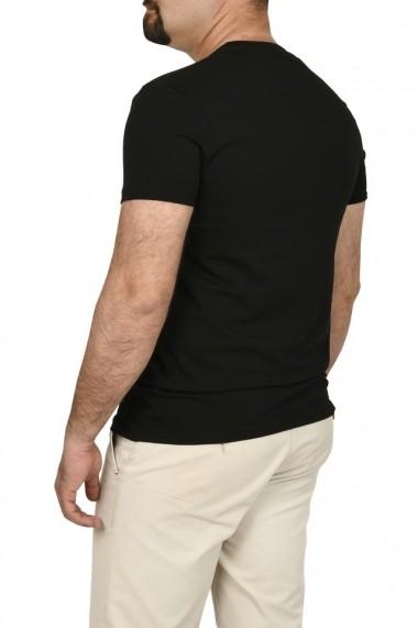 Tricou slim fit cu imprimeu STREET DENIM negru