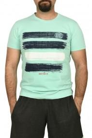 Tricou barbat cu imprimeu grafic verde