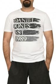 Tricou barbat cu imprimeu alb