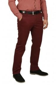 Pantaloni barbati cu buzunare oblice grena