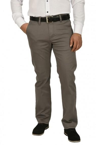 Pantaloni barbati cu buzunare oblice gri