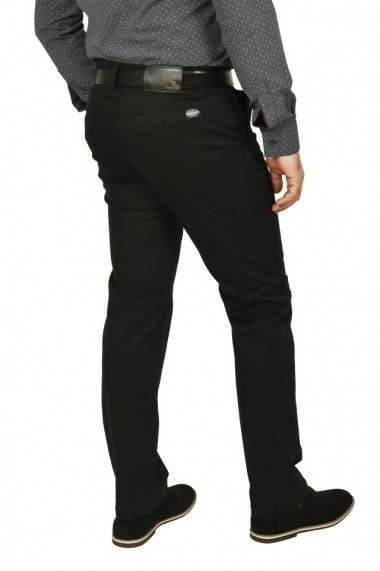 Pantaloni barbati cu buzunare oblice negru