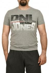 Tricou barbat cu imprimeu DNL DENIM gri