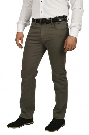 Pantaloni barbati regular fit kaki prafuit
