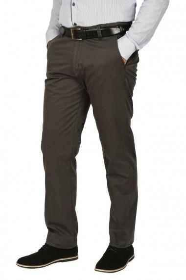 Pantaloni clasici cu buzunare oblice Town gri petrol