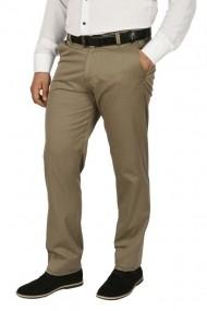 Pantaloni clasici cu buzunare oblice Town kaki prafuit