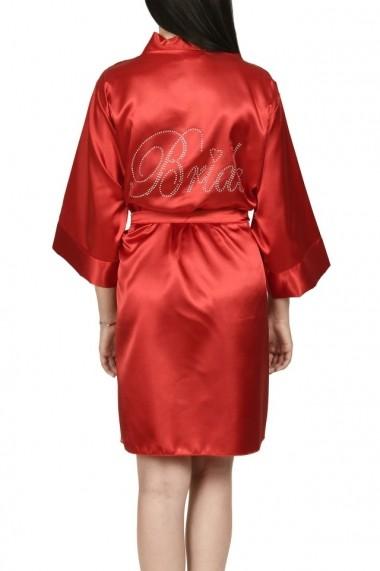 Halat BRIDE personalizat cu pietricele rosu