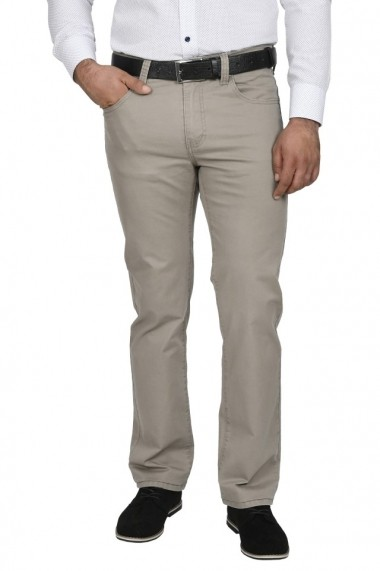 Pantaloni barbati regular fit gri deschis