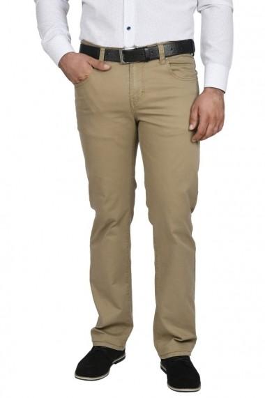 Pantaloni barbati regular fit maro deschis