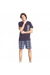 Pijamale barbati cu pantalon scurt in carouri Vienetta