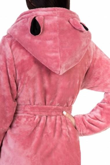 Halat dama cu ursulet Wild Love roz inchis