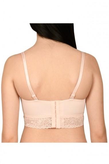 Sutien balconet semi-corset Lemila roz