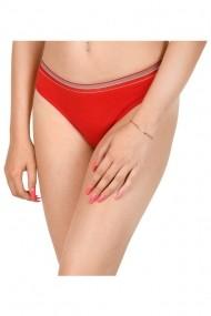 Chilot tanga cu banda elastica rosu