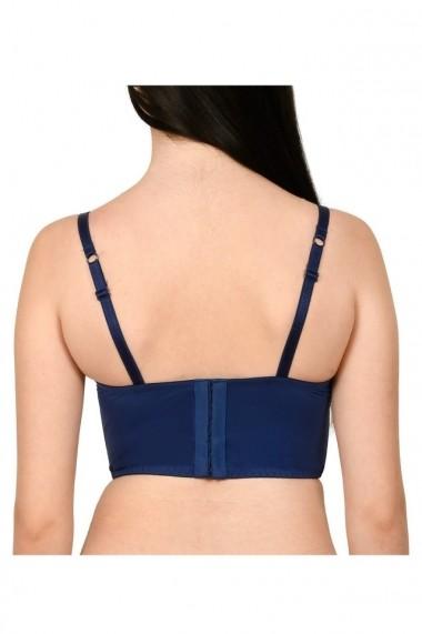 Sutien tip corset din dantela Lemila bleumarin
