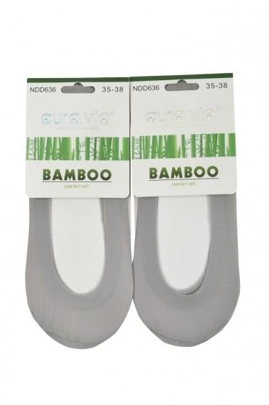 Talpici invizibili din bambus set 2 perechi gri
