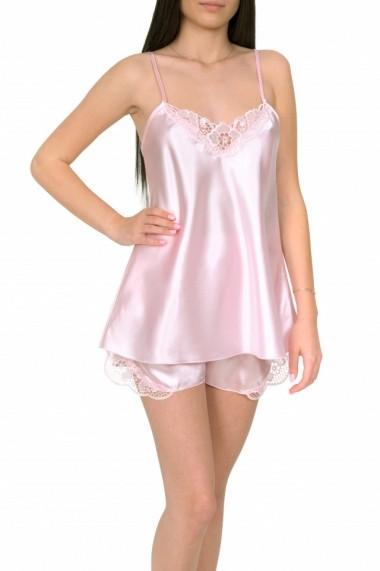 Pijama dama din satin MissDore roz