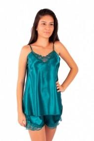 Pijama dama din satin MissDore verde smarald