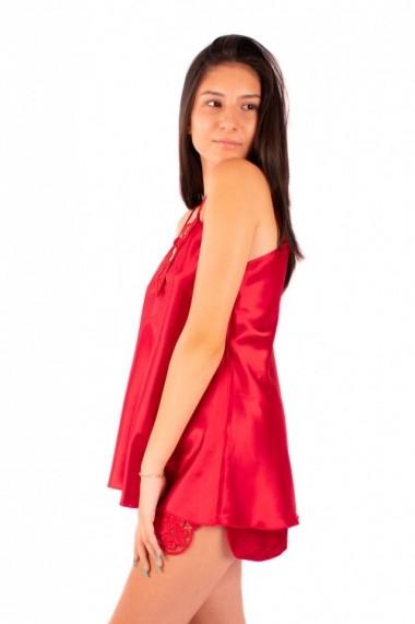 Pijama dama din satin MissDore rosu