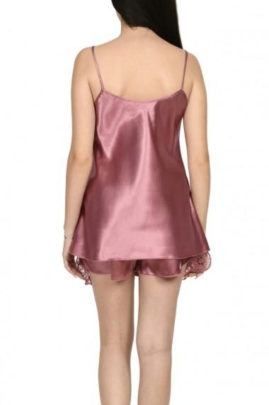 Pijama dama din satin MissDore roz inchis