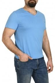 Tricou bumbac in anchior Glo Story albastru