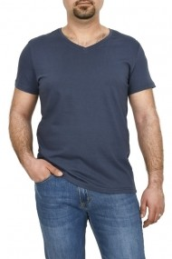 Tricou bumbac in anchior Glo Story bleumarin
