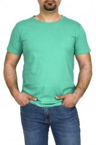 Tricou bumbac la baza gatului Glo Story verde
