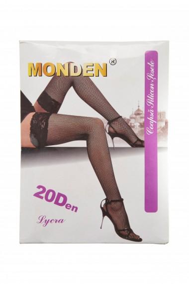 Ciorapi plasa mare banda adeziva Monden nude