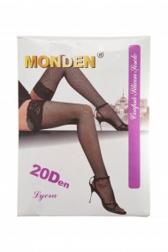 Ciorapi plasa mica banda adeziva Monden nude