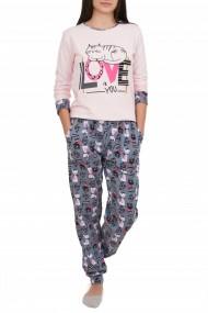 Pijamale dama LOVE Nicoletta roz