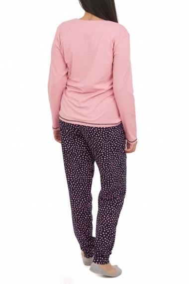 Pijamale dama HAPPY Nicoletta roz pudra