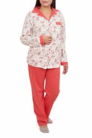 Pijamale dama cu nasturi Diana corai
