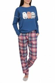 Pijamale dama Panda albastru denim