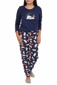 Pijamale dama Happy Memories bleumarin