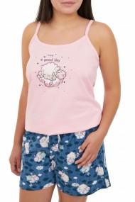 Pijama dama cu pantalon scurt GOOD DAY roz