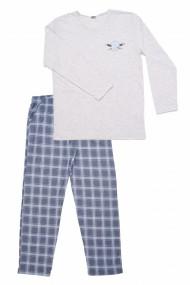 Pijamale bumbac cu imprimeu Vienetta gri