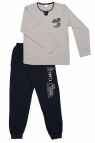 Pijamale barbat cu garnituri contrastante gri